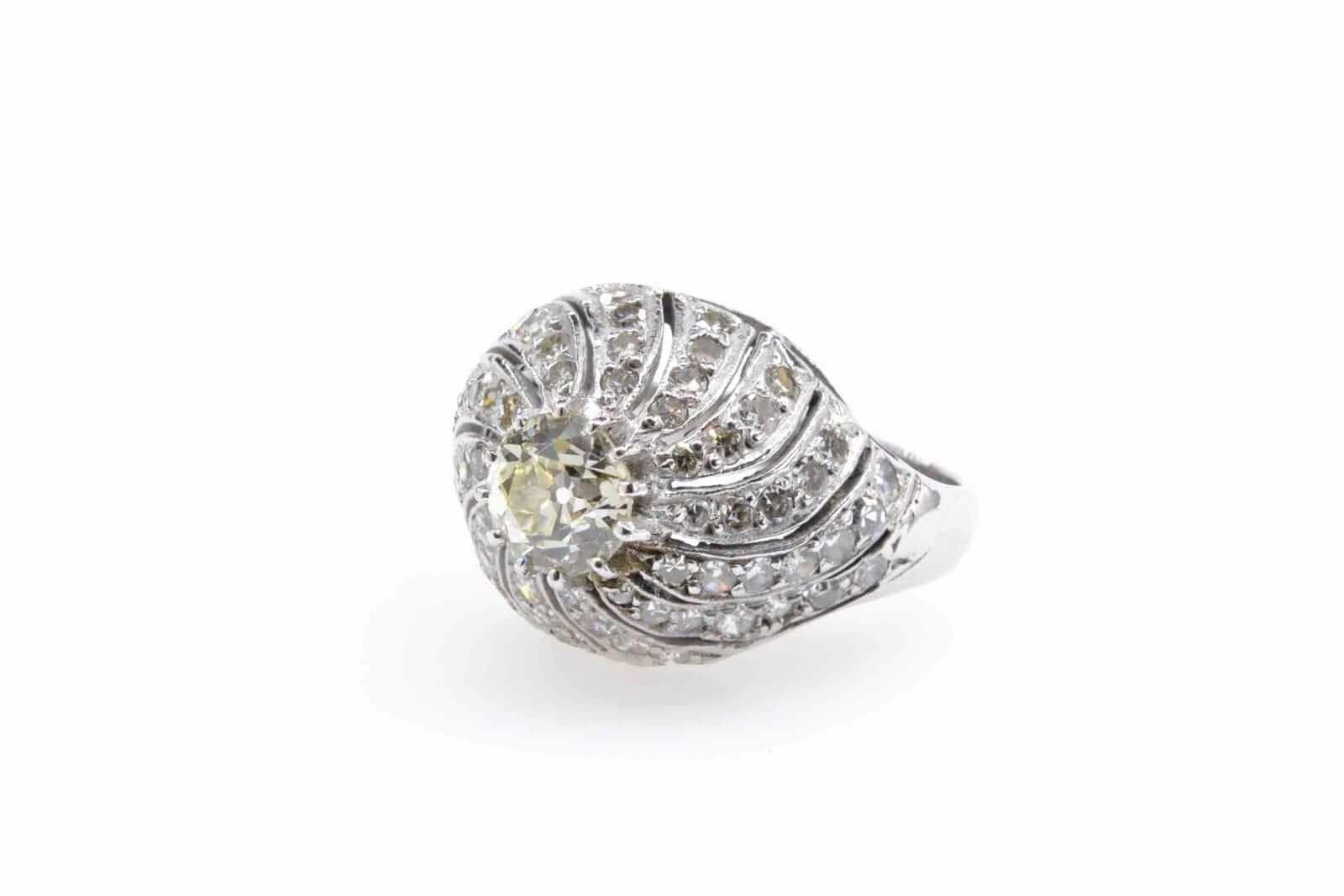 bague de fiançailles diamant taille ancienne