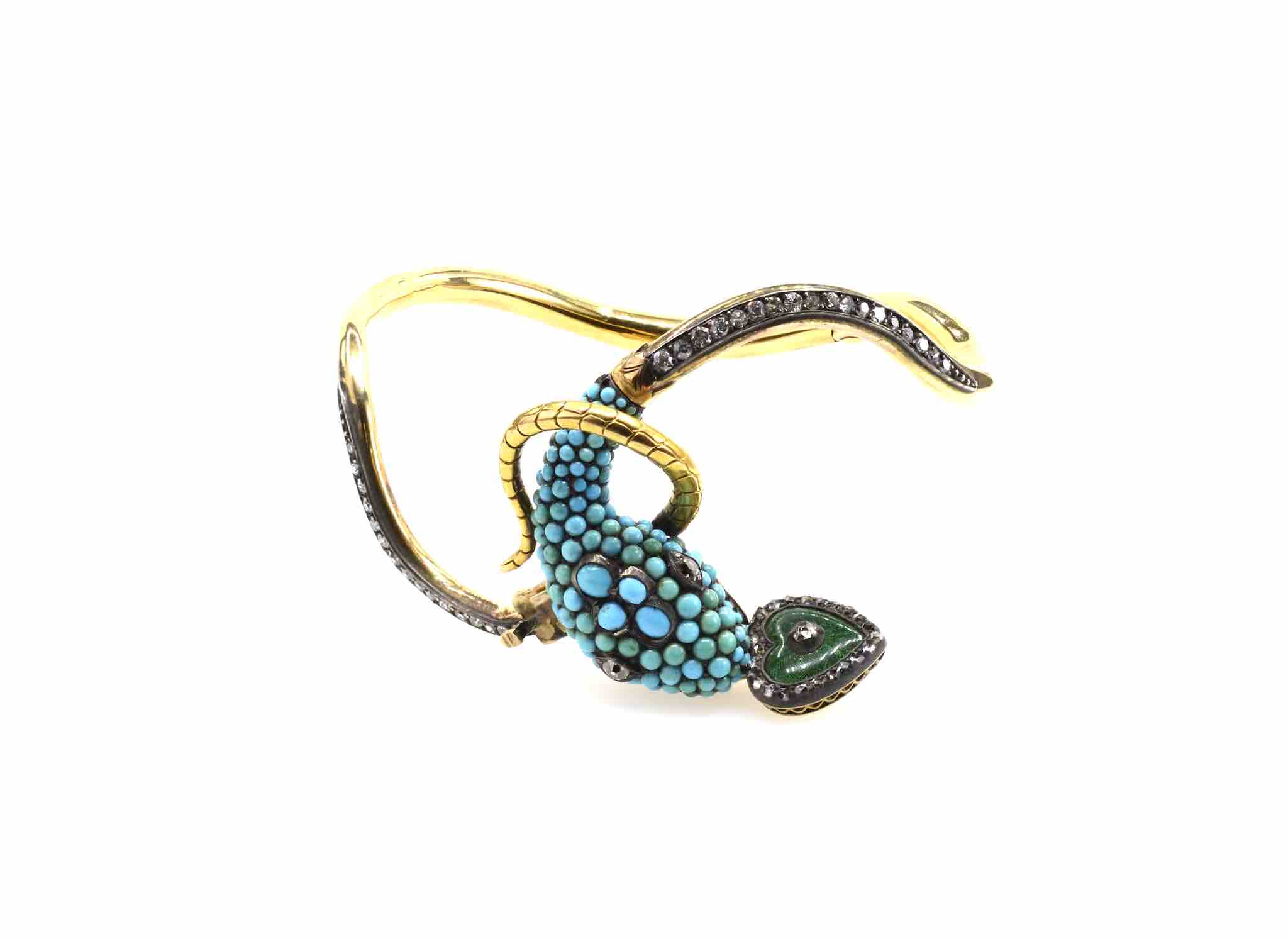bracelet serpent art-deco