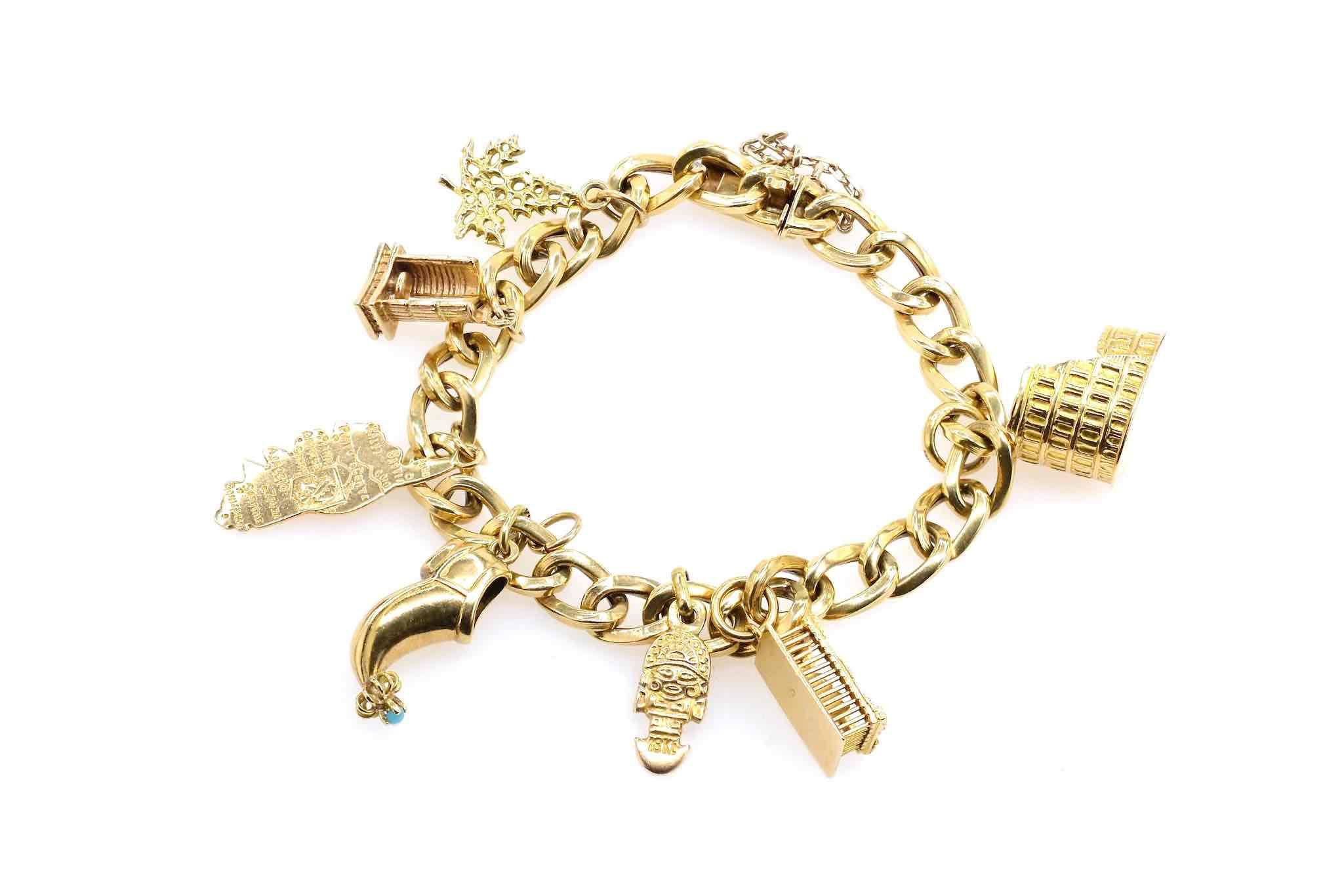 bracelet breloques vintage