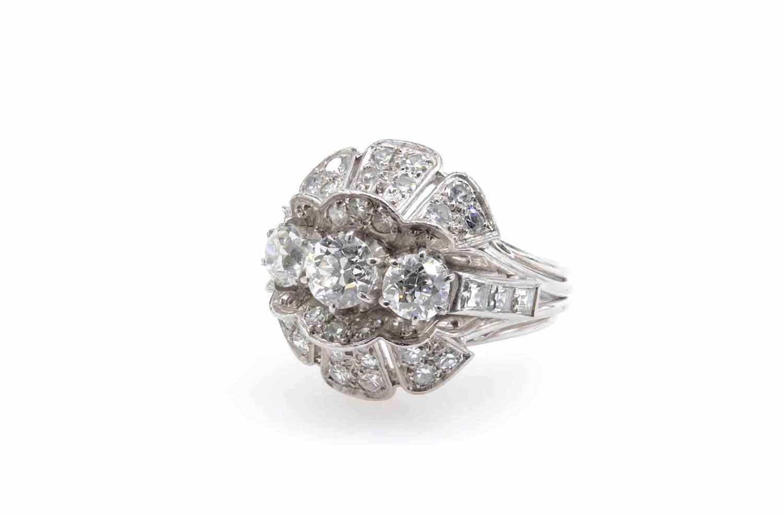 bague diamants en platine