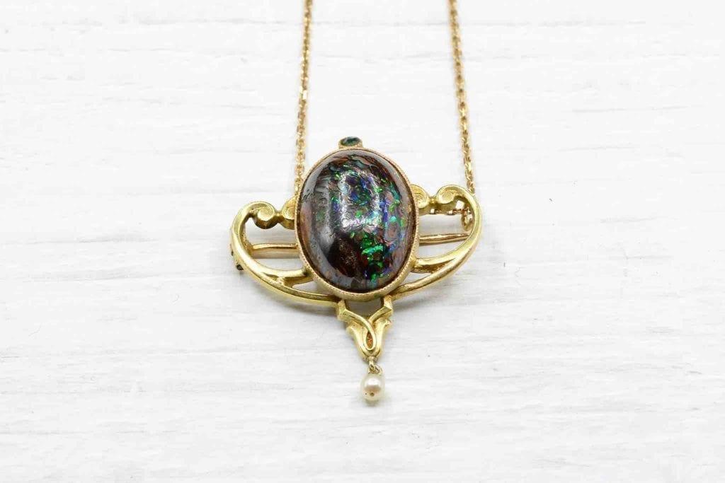 collier en or époque art nouveau