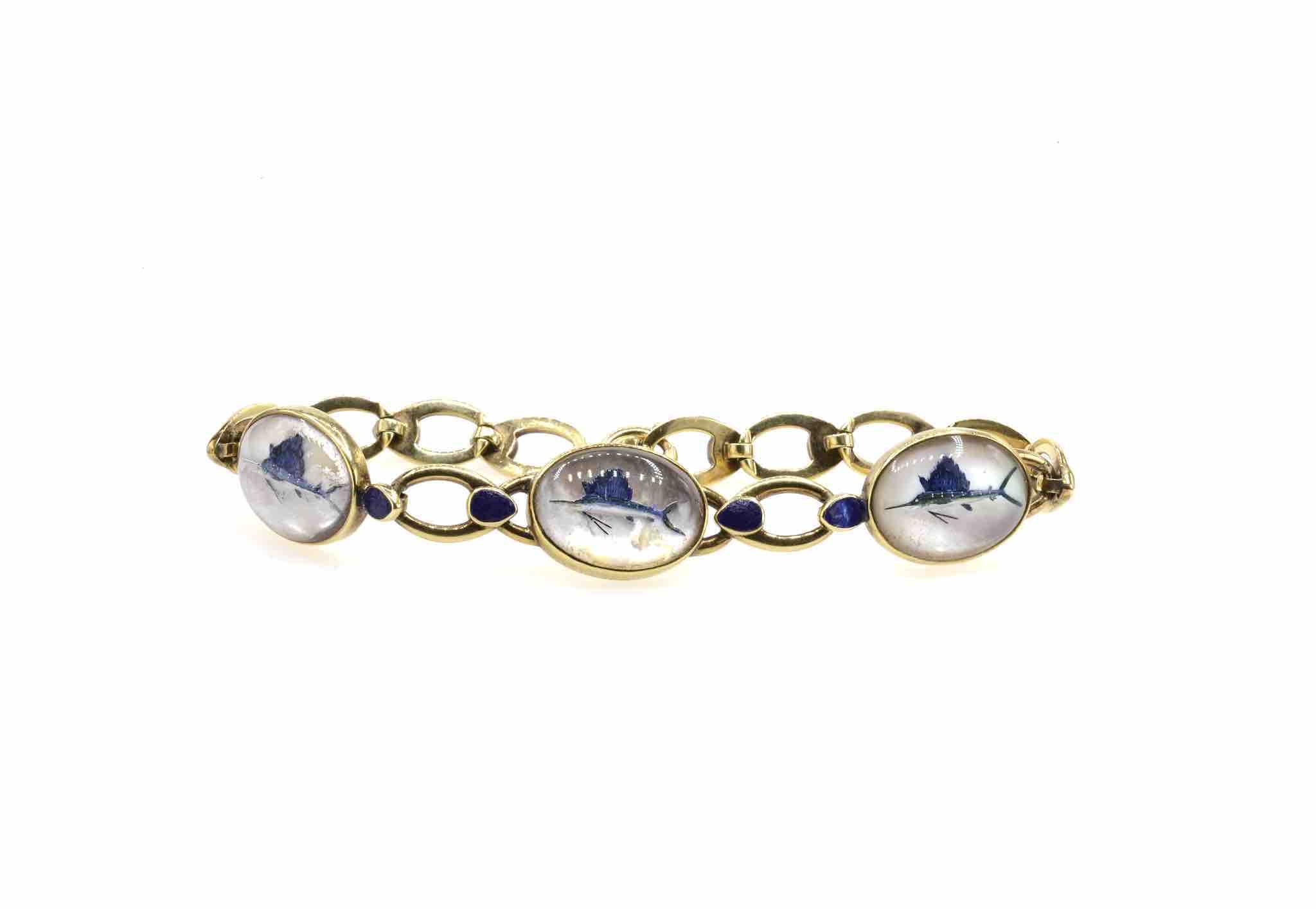 bracelet or 14k espadons