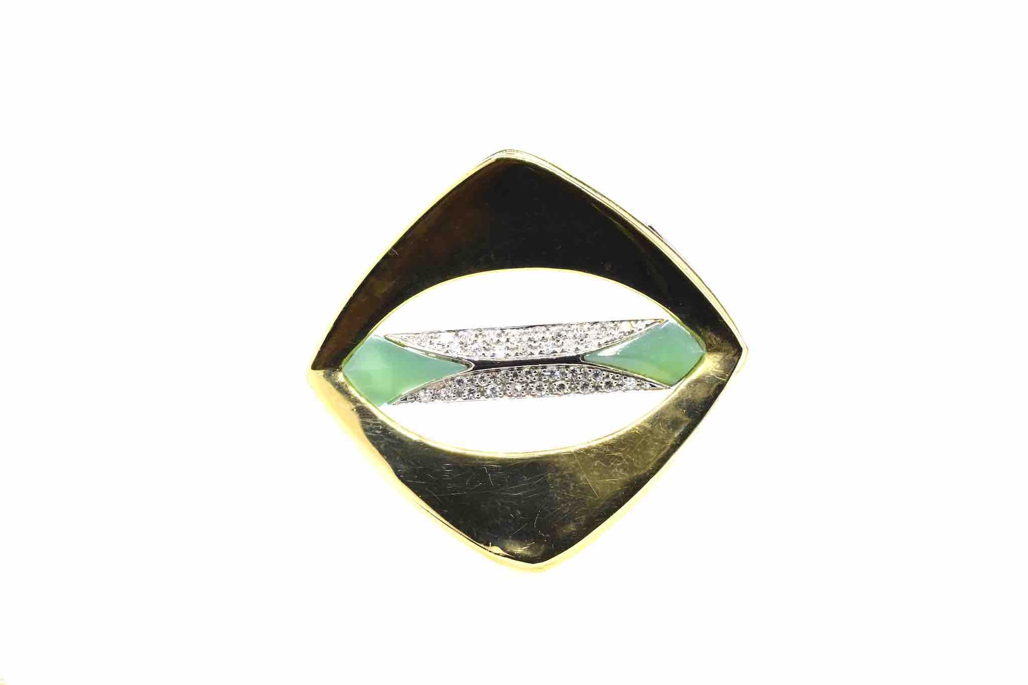 broche des années 1970 diamants