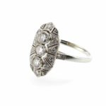 bague 1920 diamants en platine