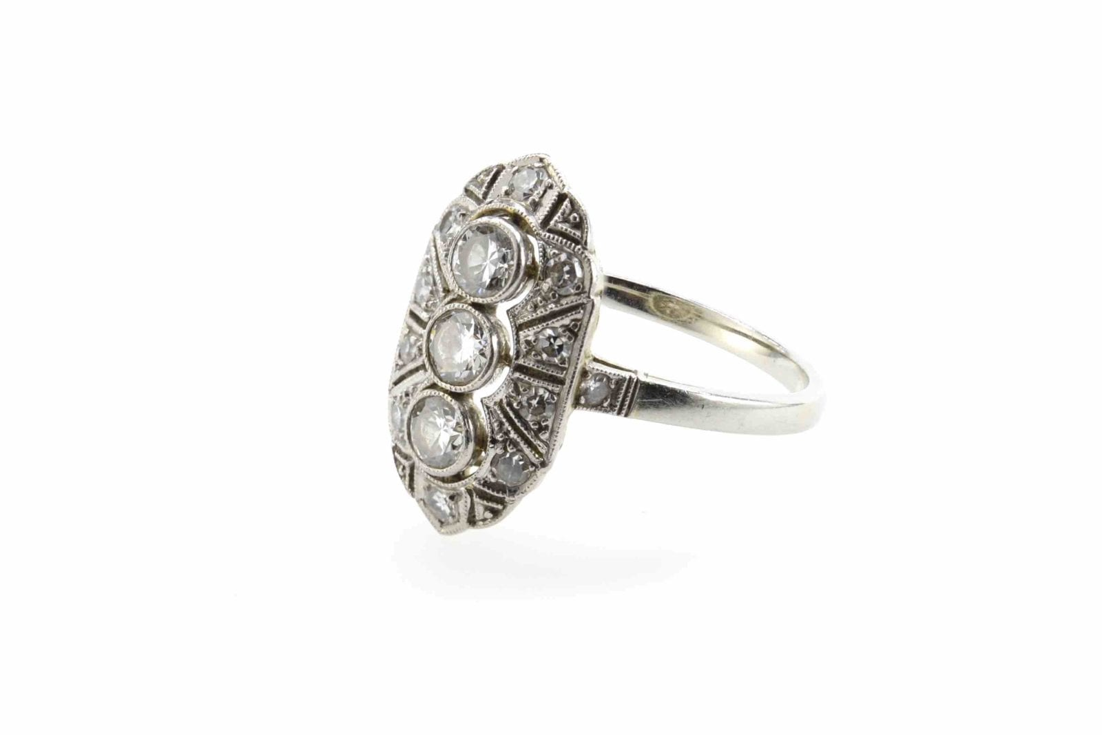 bague 1920 diamants en platine