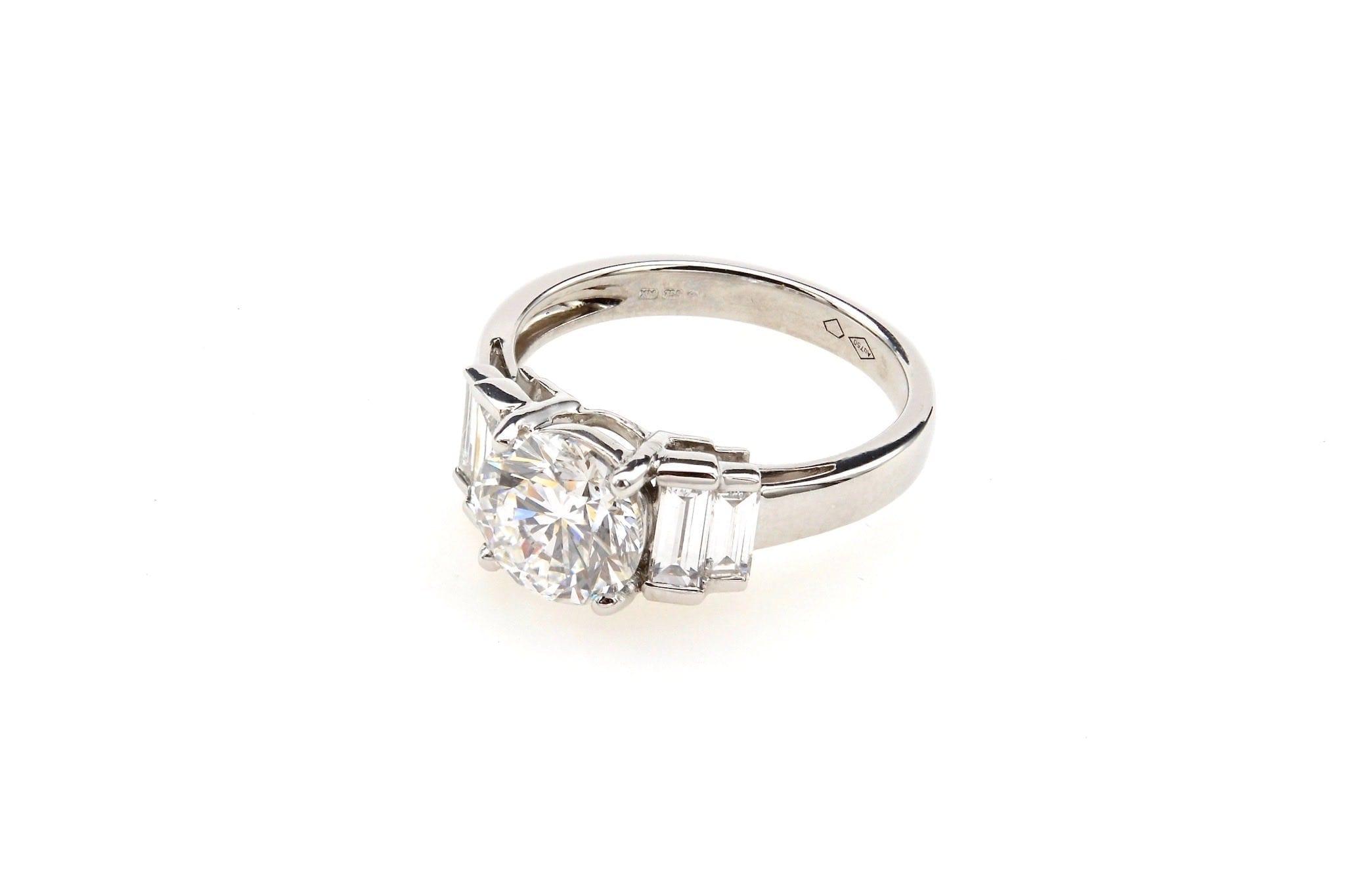 Bague diamant style vintage