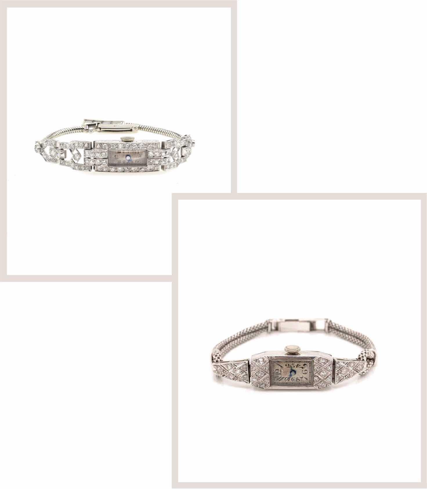 montres diamants art déco