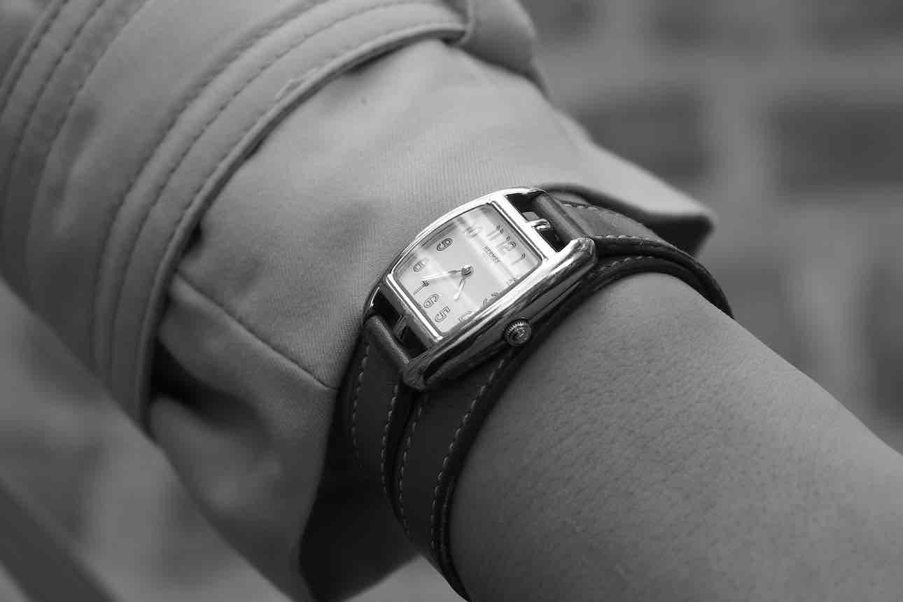 montre vintage bracelet cuir