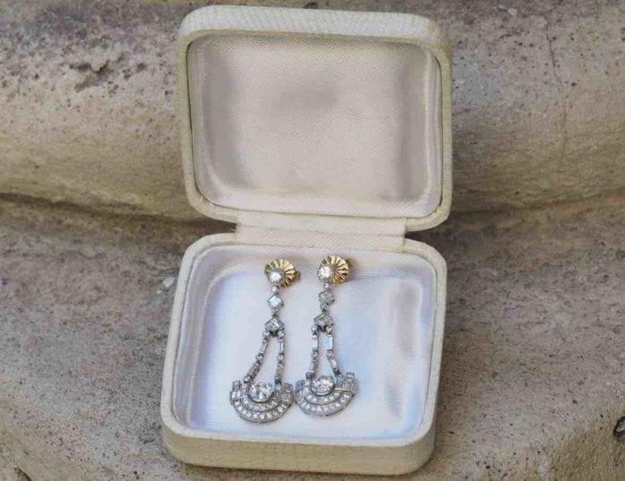 achat boucles d'oreilles diamants