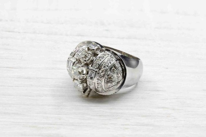 Bague 1950 diamants en platine
