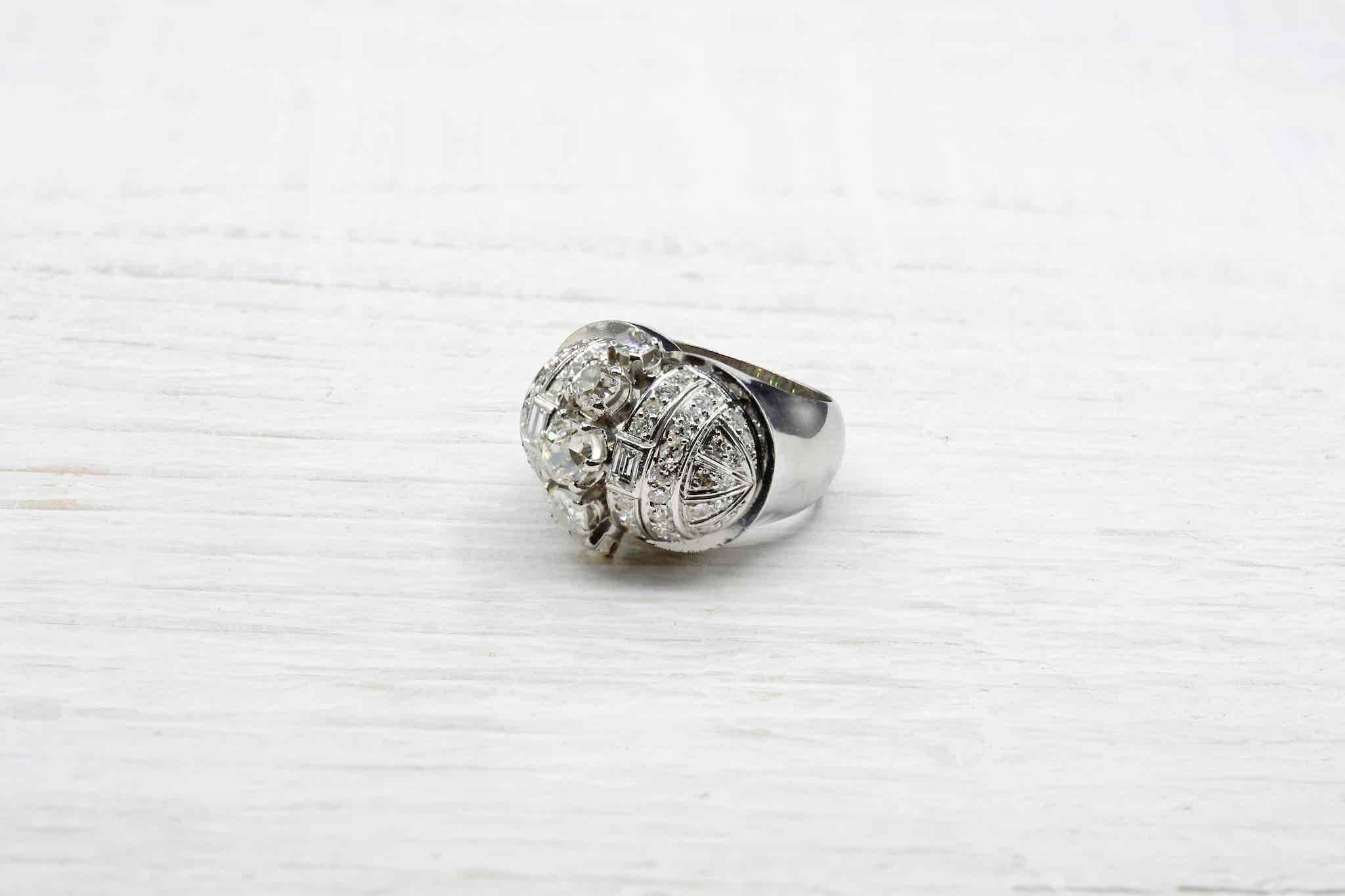 bague diamant 1950