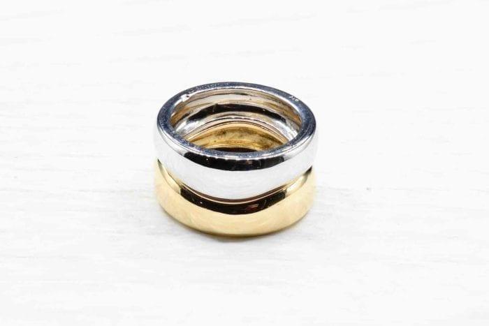 Bague Cartier deux anneaux superposés