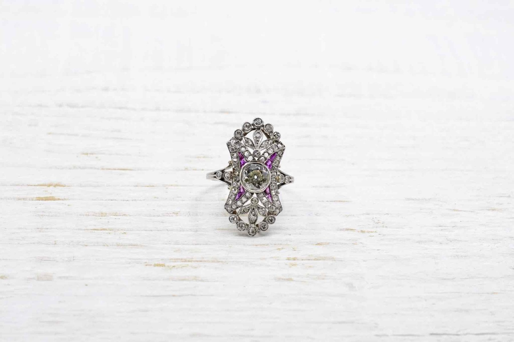 bague rubis diamants art-déco