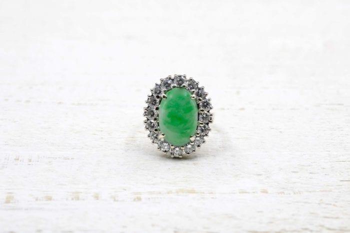 Bague vintage jade