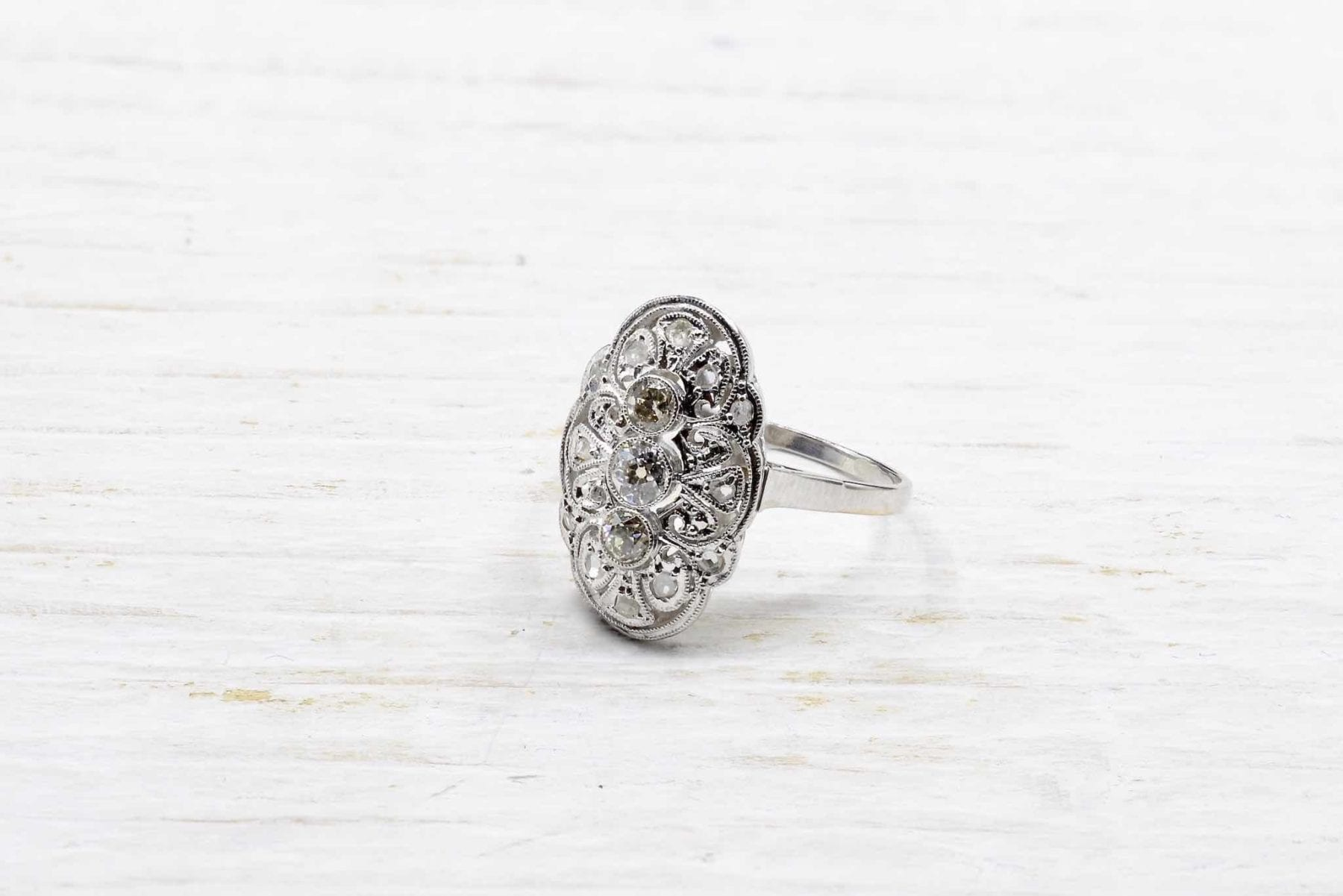 bague ancienne diamants et platine