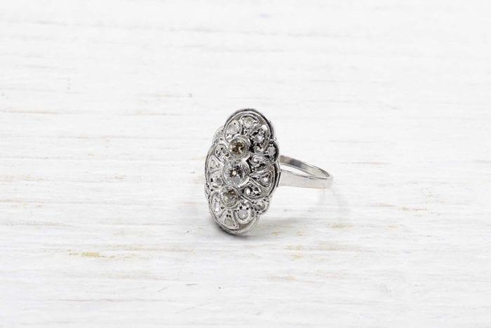 Bague ancienne diamants en platine