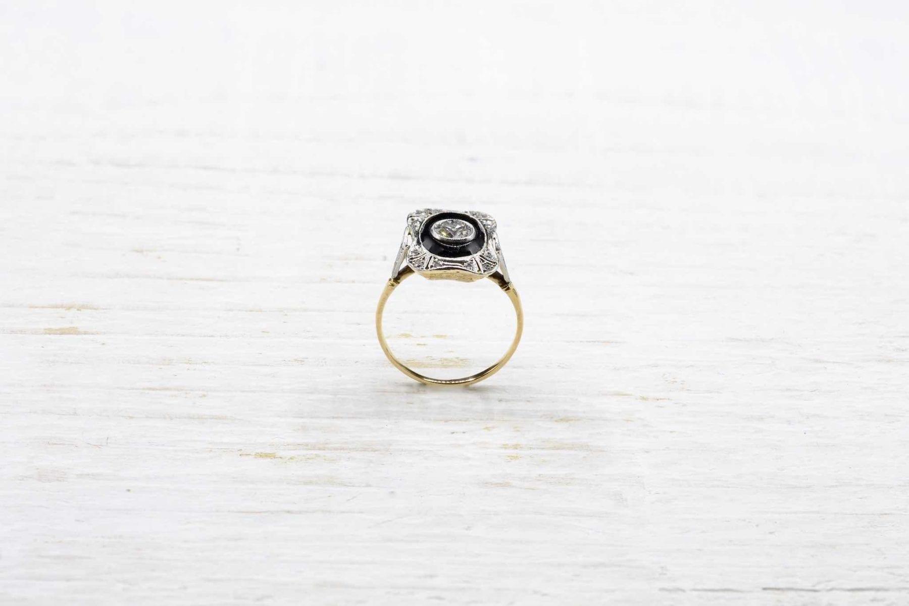 Bague occasion diamants or jaune