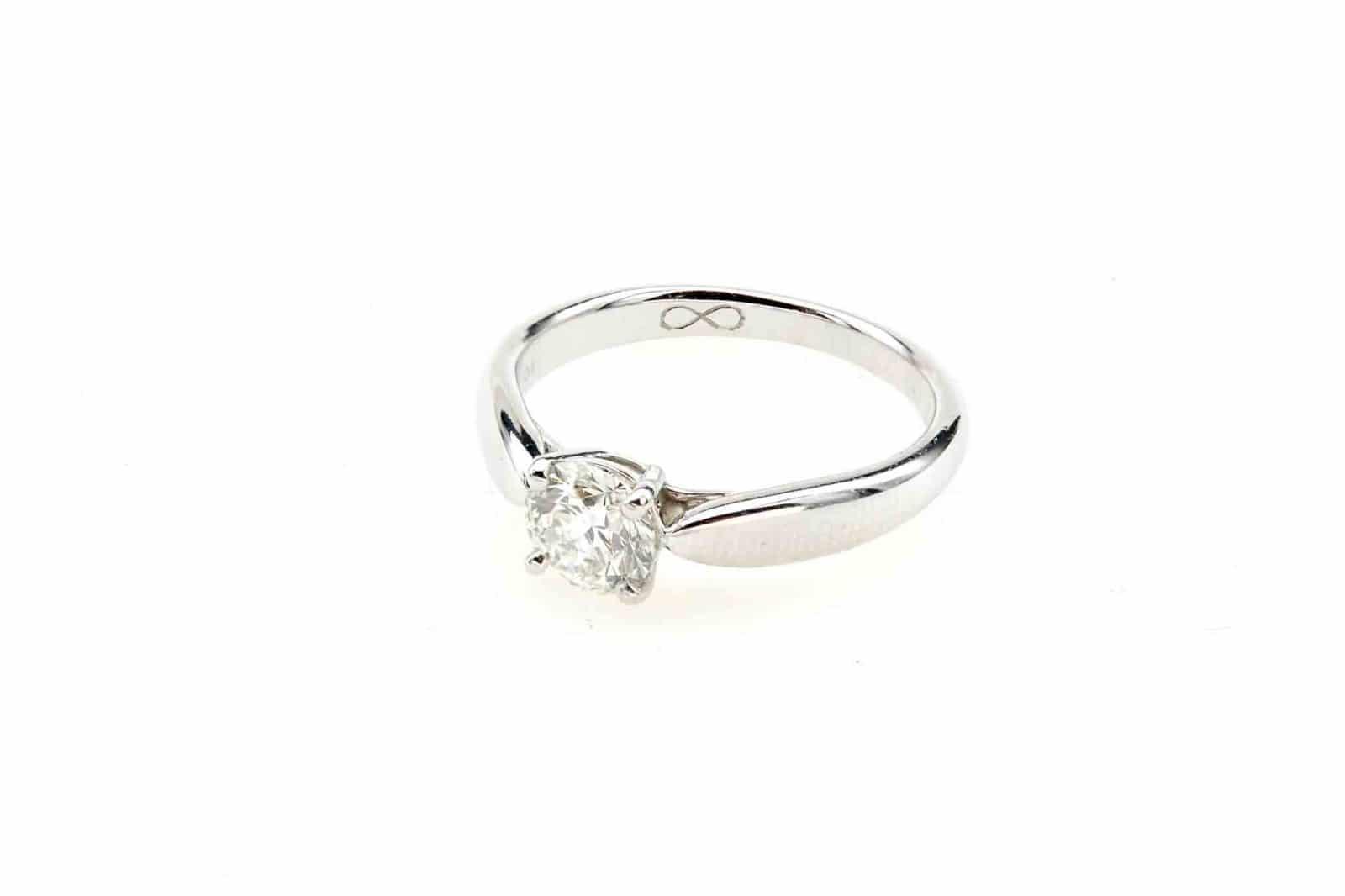 Bague solitaire diamant Tiffany