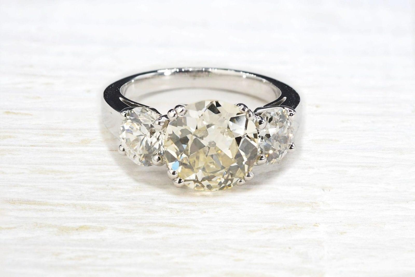 bague diamants trilogie