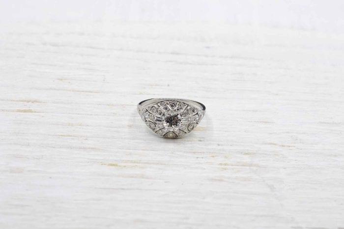 bague de fiançailles platine diamants ancienne