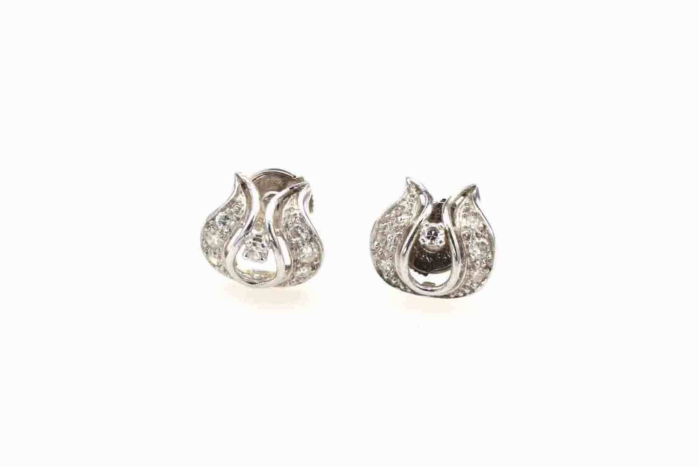 Boucles d'oreilles diamants en platine