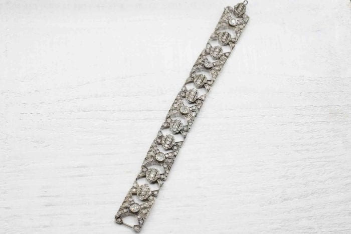 Bracelet 19e siècle diamants en argent