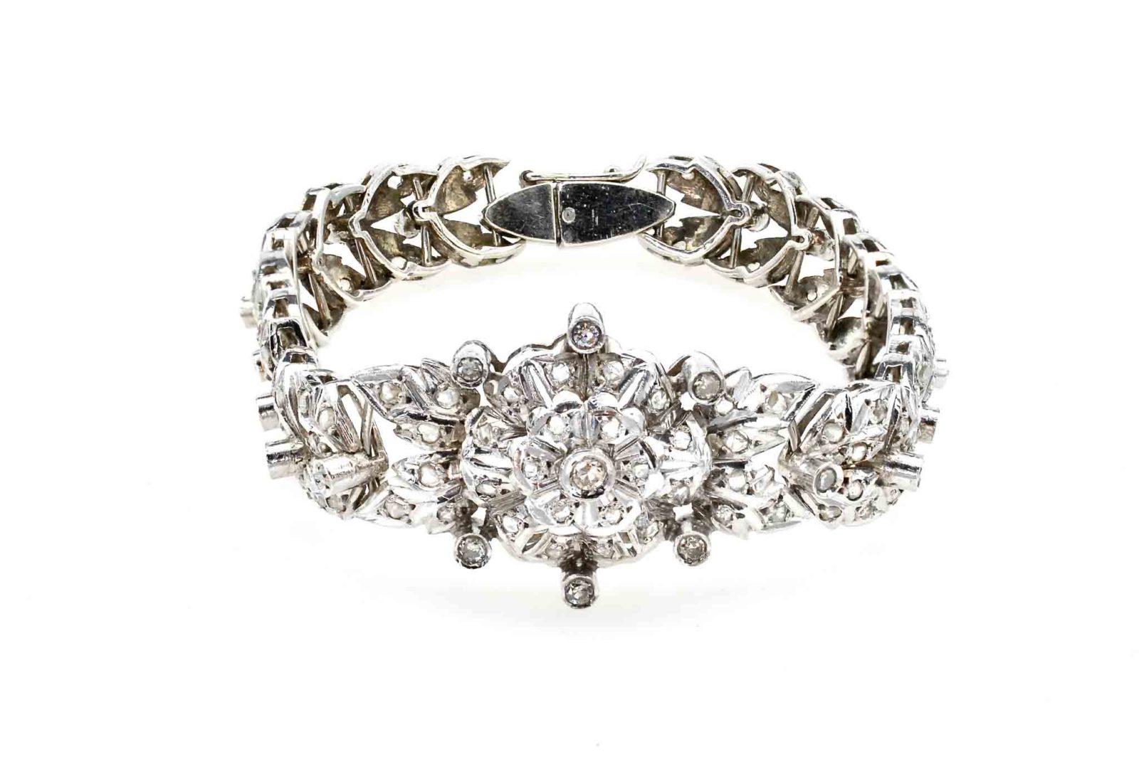 Bracelet diamants palladium