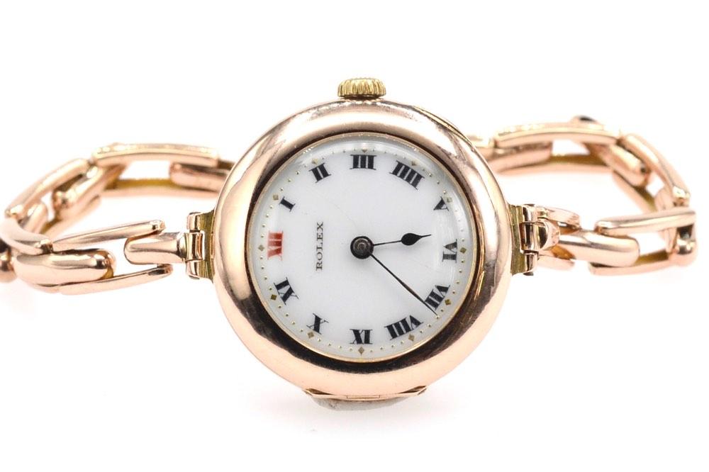 montre Rolex ancienne 1920 en or 14k
