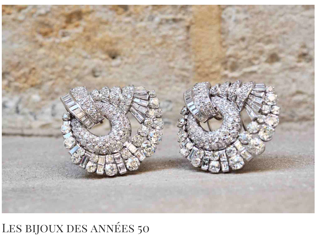 bijoux années 50