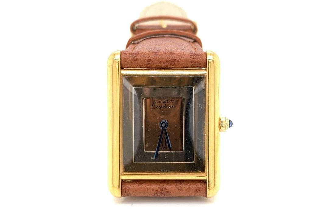 montre cartier bracelet cuir