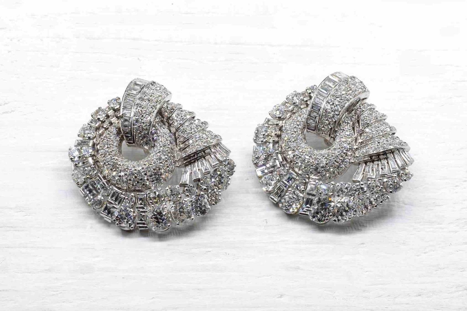 Clips diamants en platine