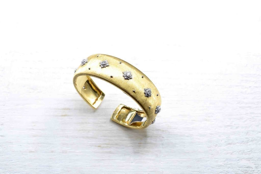 bracelet buccellati 1960 diamants et or jaune 18k