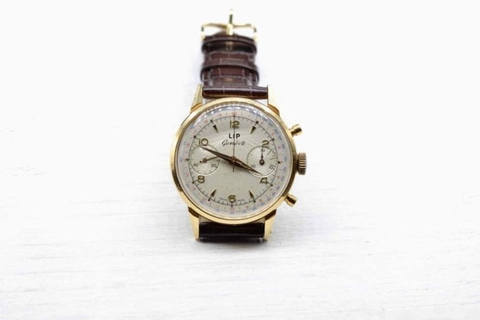 Montre Lip ancienne en or jaune 18k