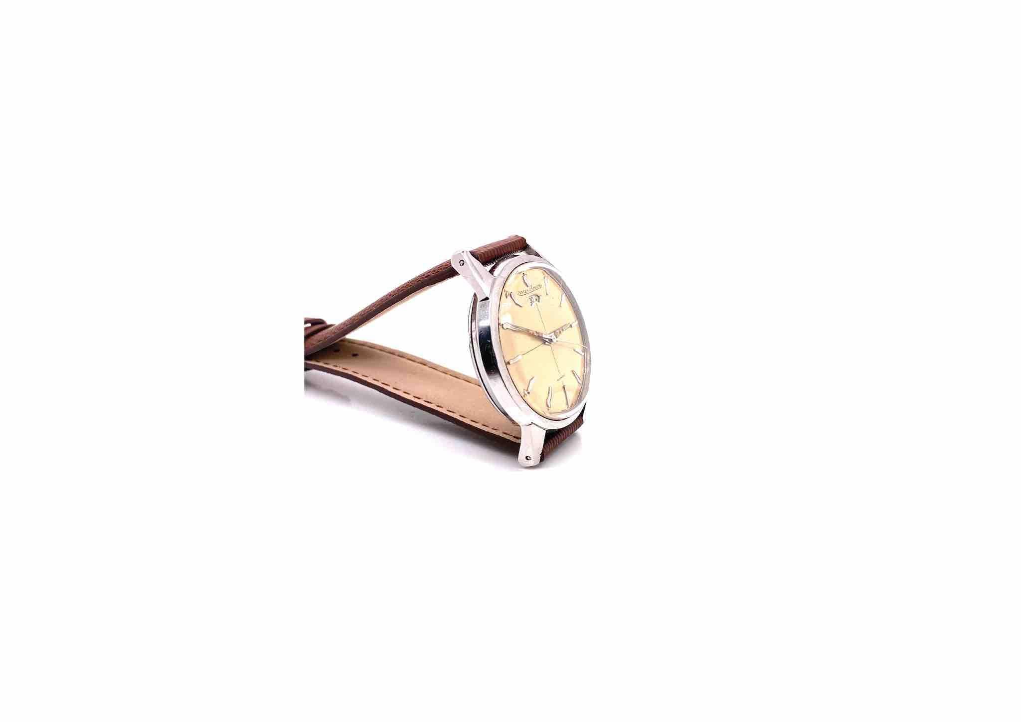 Montre Jaeger LeCoultre bracelet cuir