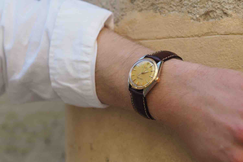 montre vintage d'occasion bracelet cuir