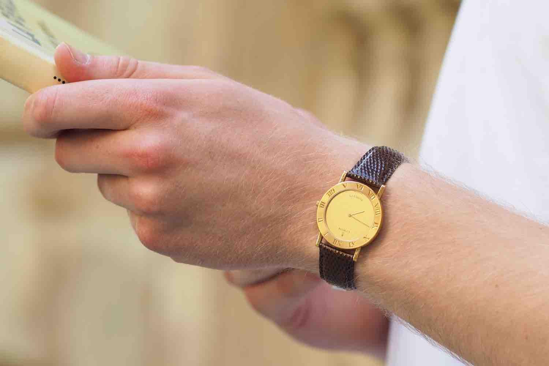 montre ancienne bracelet cuir
