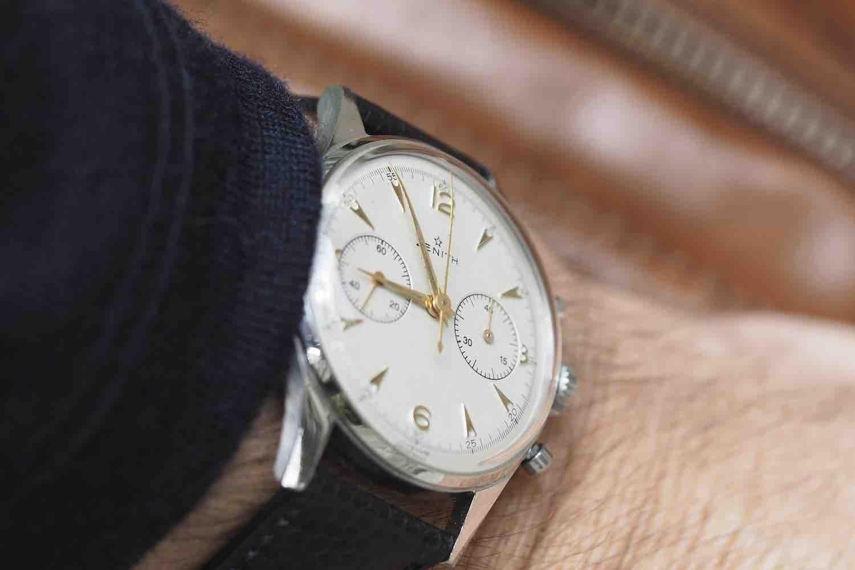 montre vintage zenith acier