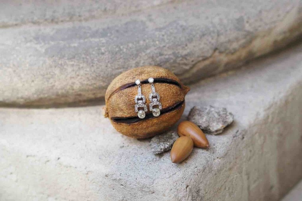 rachat de boucles d'oreilles diamants