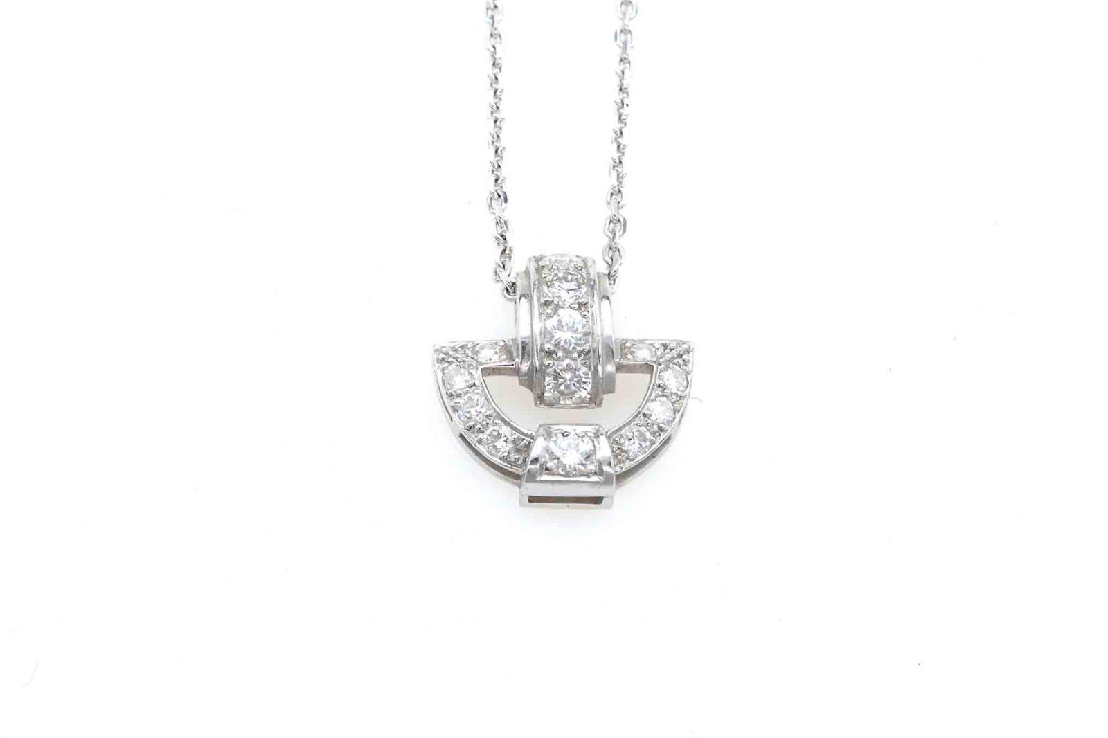 Pendentif Art Déco diamants