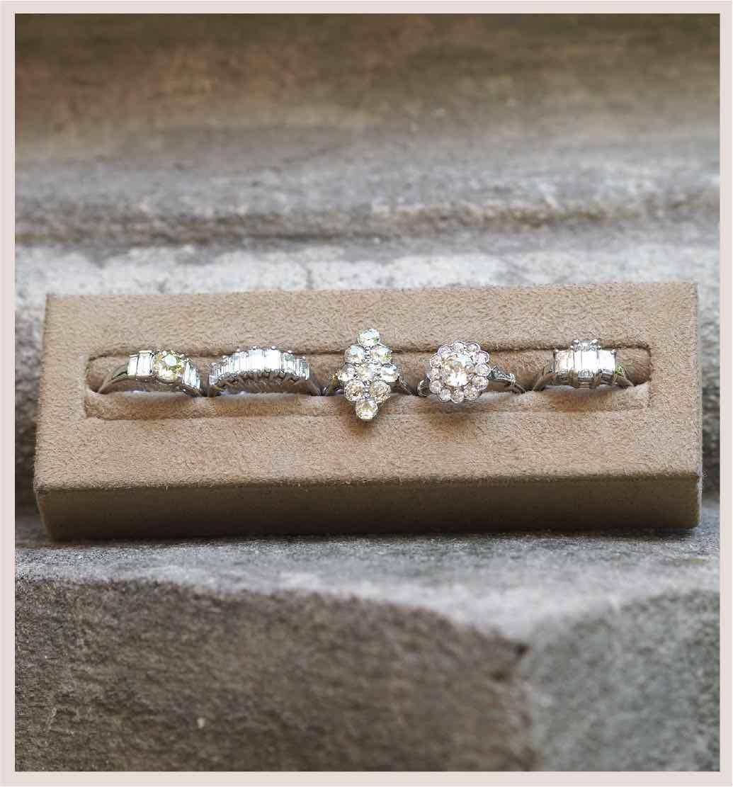 bagues vintage diamants