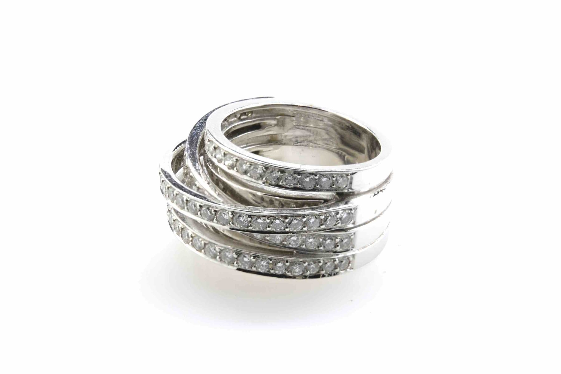 bague diamants anneaux multiples