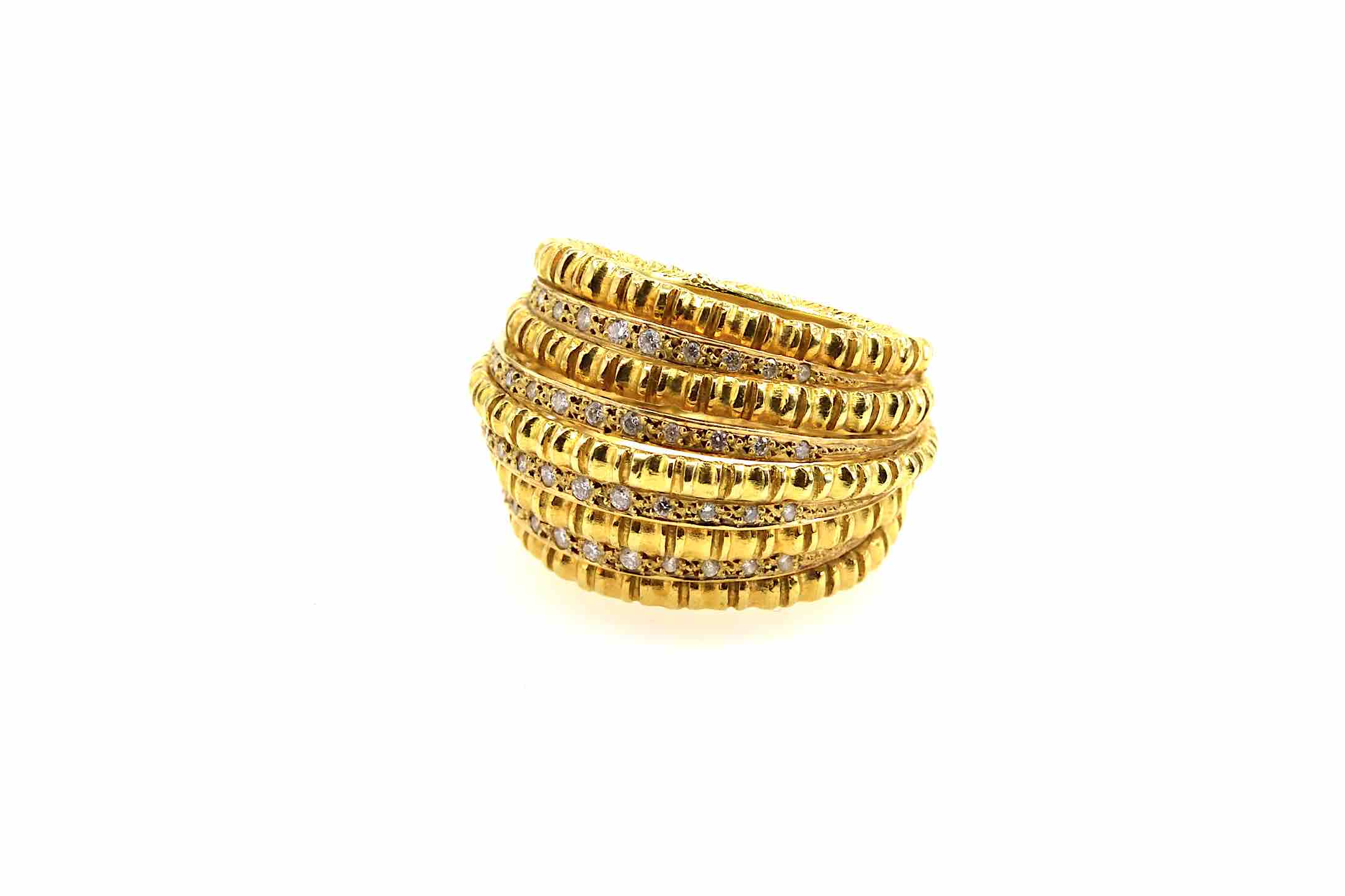bague ancienne dome or jaune 18k