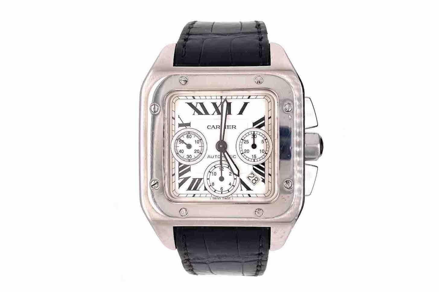 montre Cartier Santos 100XL Chronographe