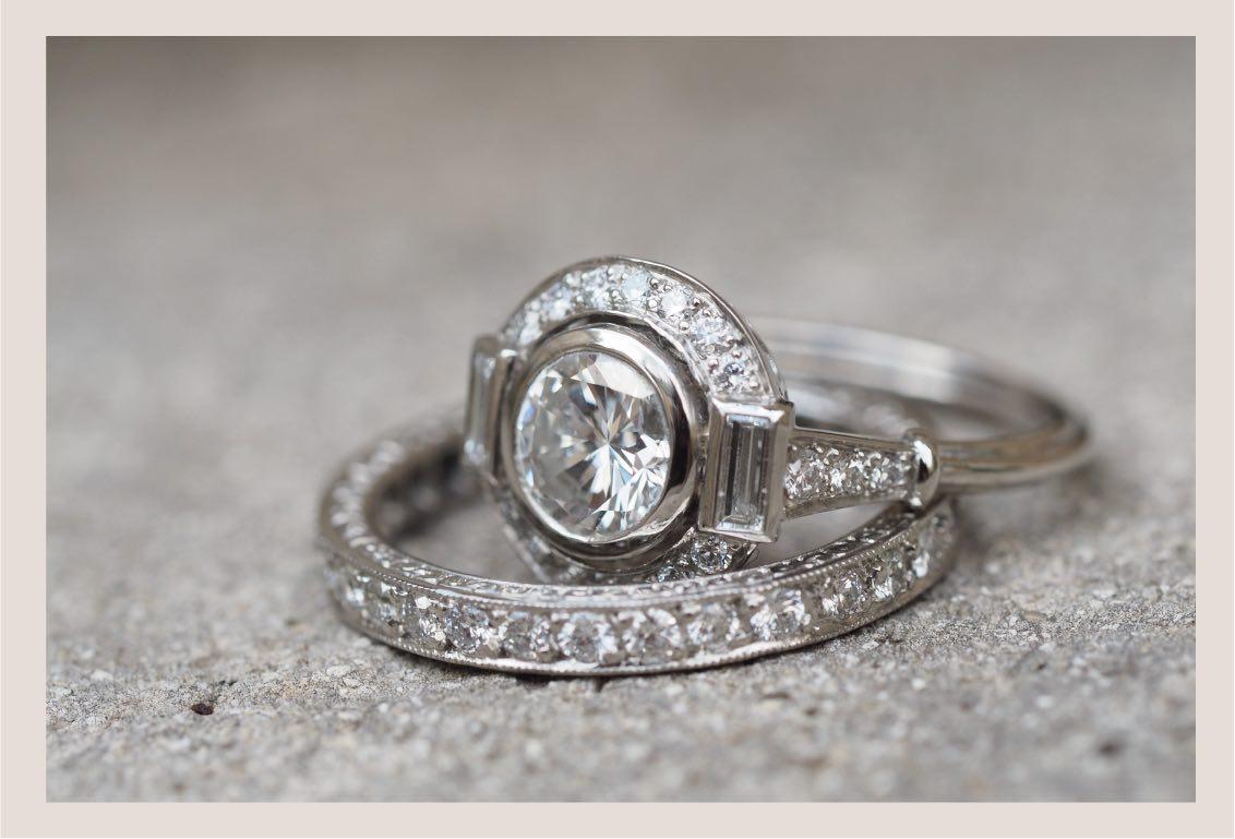 alliance en or blanc 18k et diamants