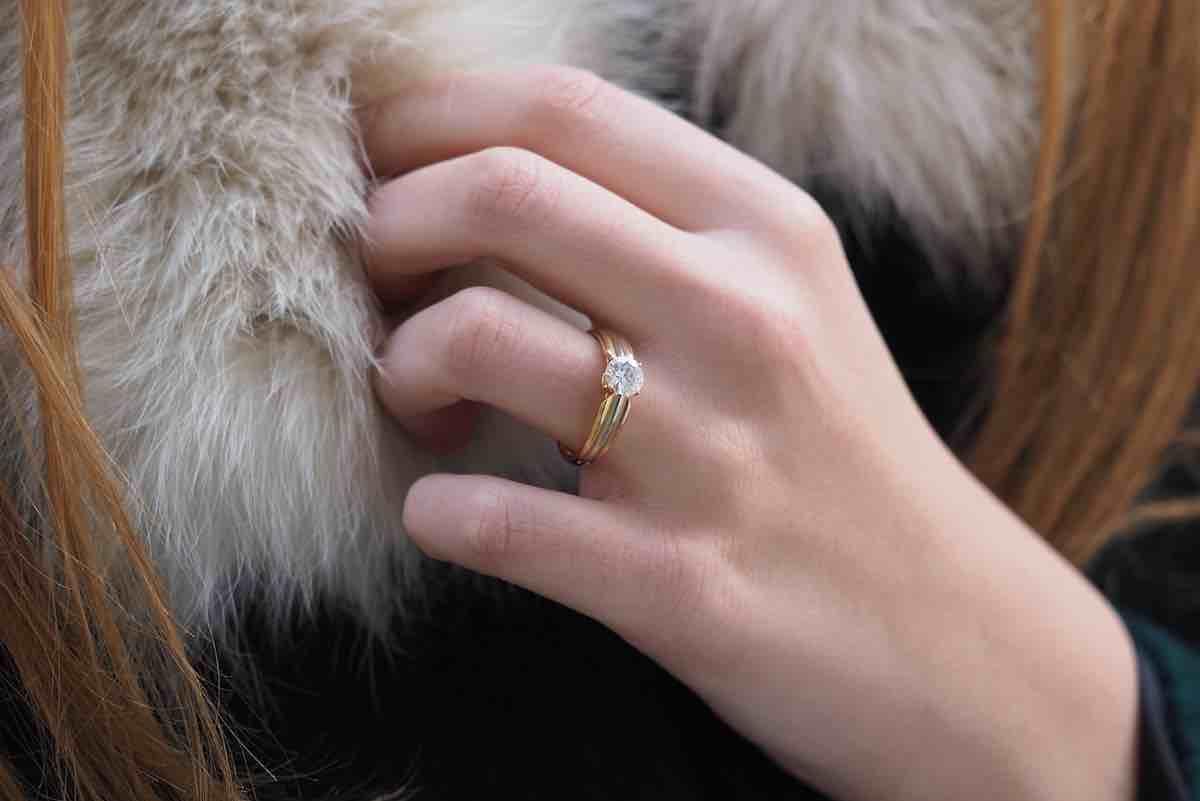 rachat bague de fiançailles signée