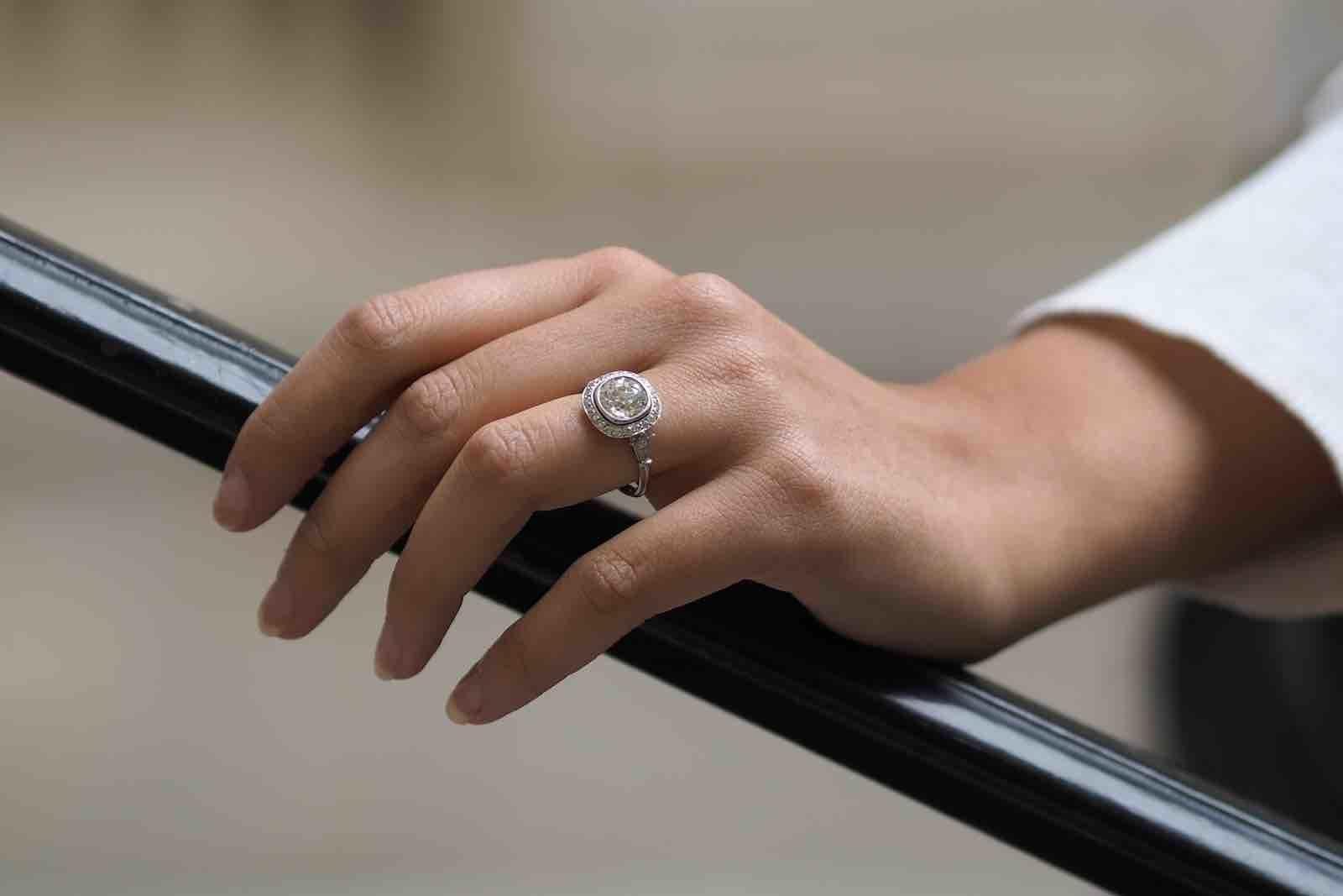 Bagues de fiançailles vintage diamants
