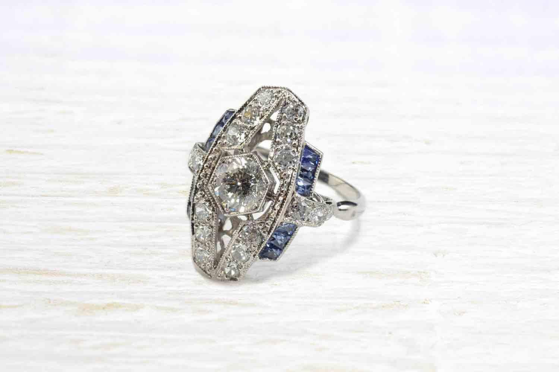 bague vintage diamants