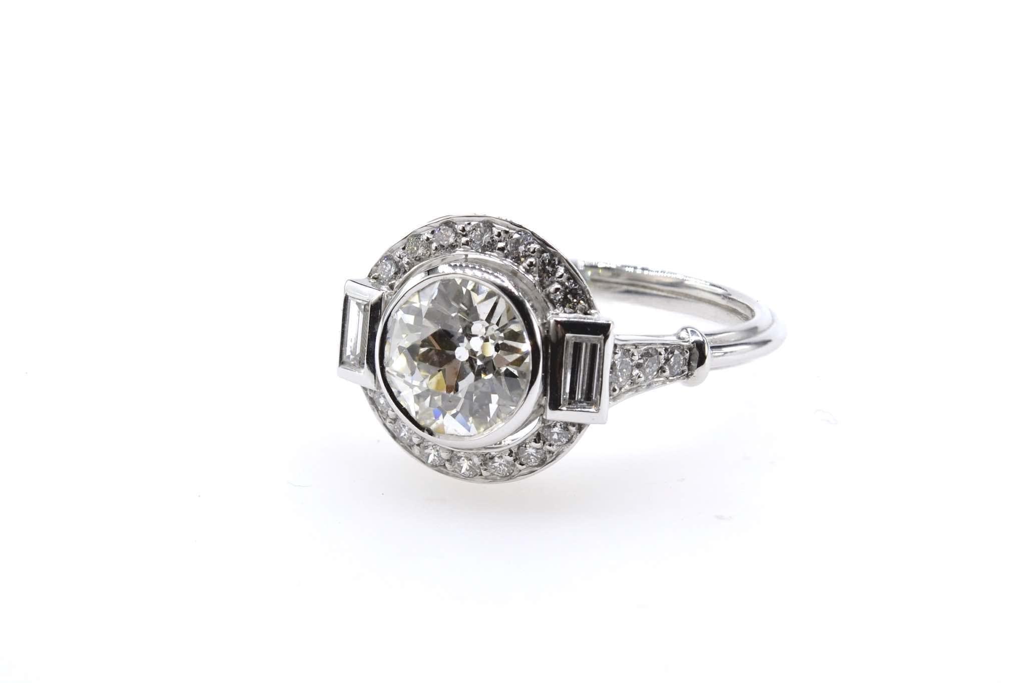 bague art déco diamants baguette