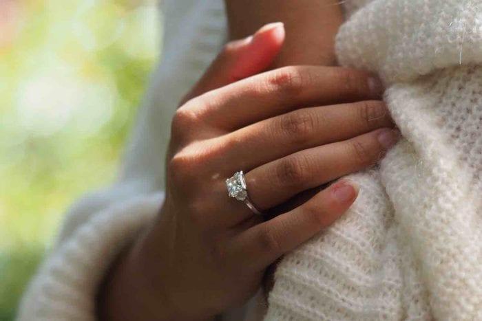 bague de fiançailles diamant princesse