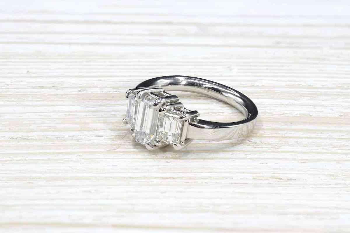 bague vintage diamant or 18k